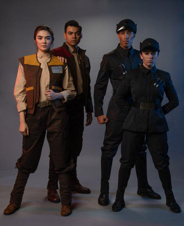 Building Batuu Cast Members Suit Up for Work in Black Spire